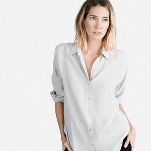Everlane 'Dove gray' 100% Silk shirt - XS